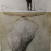 graphite and mixed media on panel