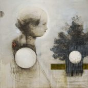 graphite and mixed media on drywall