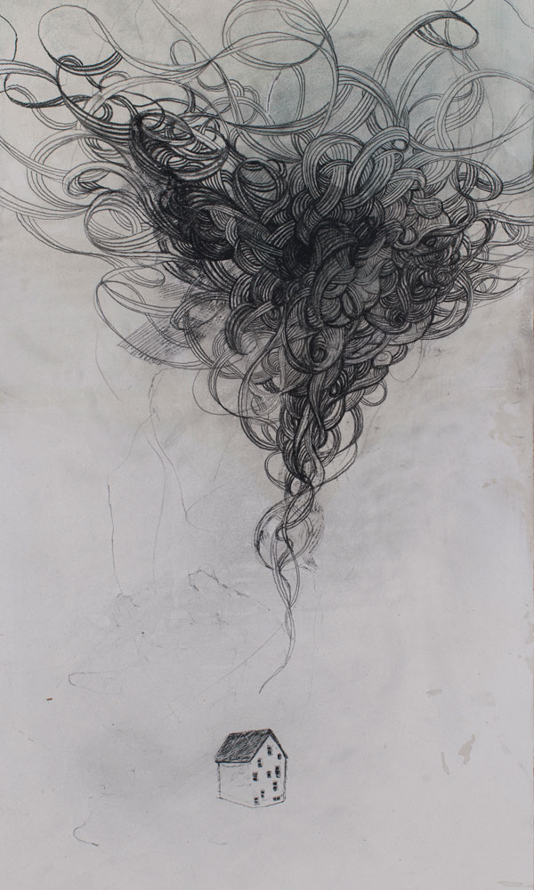 graphite on drywall